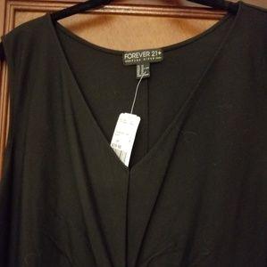 NWT Forever 21 plus 3X (2X or 1X)  BLACK DRESS